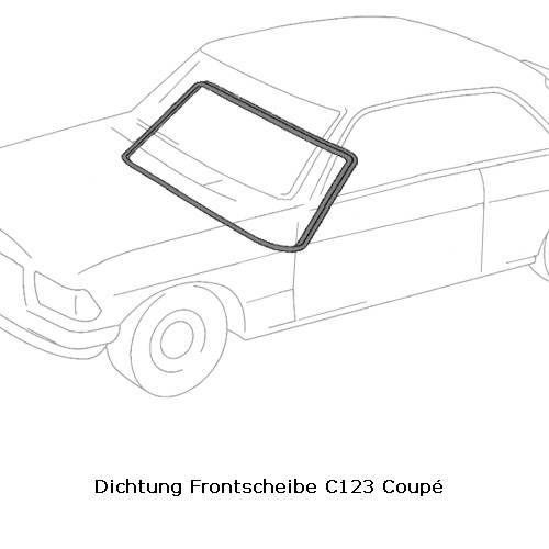 Dichtung Frontscheibe C123 Coupé