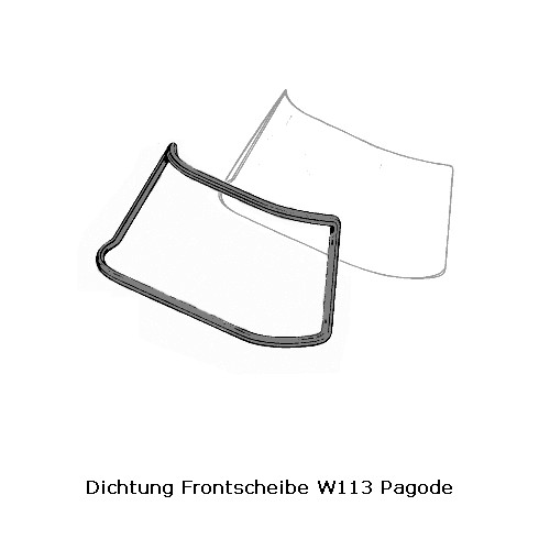 Dichtung Frontscheibe W113 Pagode SL