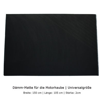 Dämm-Matte für Motorhaube 2cm stark