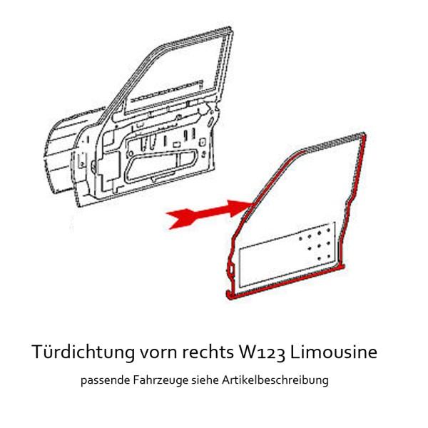Türdichtung W123 Limousine VR