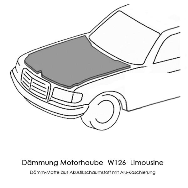 W126 Dämmung Motorhaube