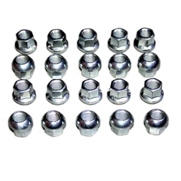 20 Radmuttern für Stahlfelge