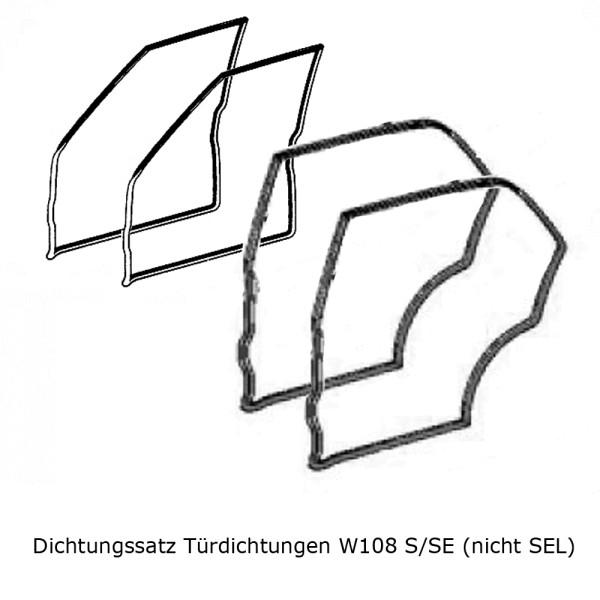Dichtungssatz Türdichtungen W108 S/SE