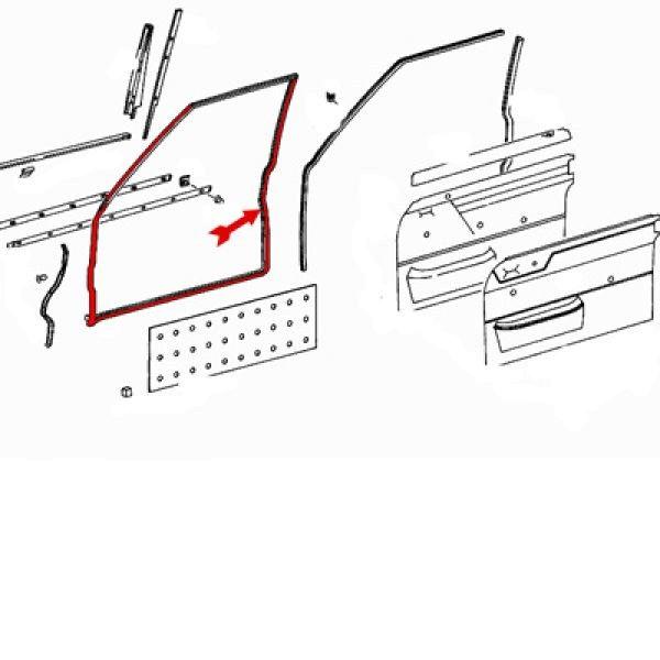 Türdichtung W114 W115 vorn links