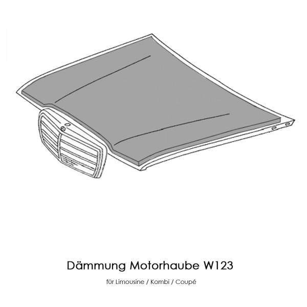 W123 Dämmung Motorhaube C123 T123