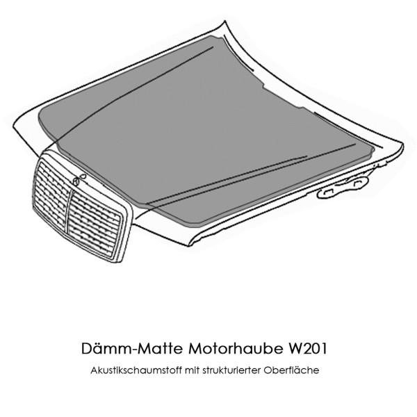 W201 Dämmung Motorhaube 190-er