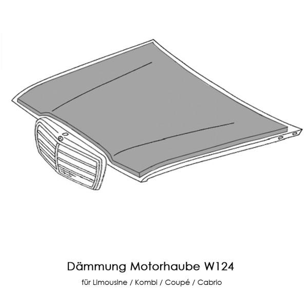 W124 Dämmung Motorhaube S124 A124 C124