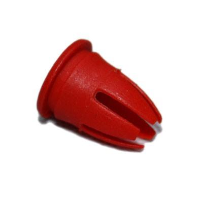 100 Stk Druckknopf Zierleiste mit Spreizkopf rot