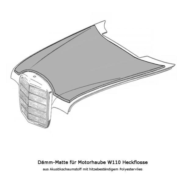 W110 Dämmung Motorhaube Heckflosse