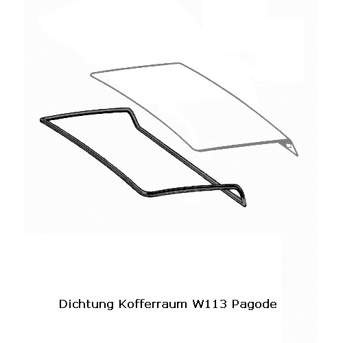 Dichtung Kofferraumklappe W113