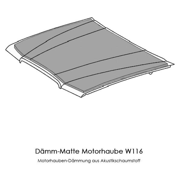 W116 Dämmung Motorhaube