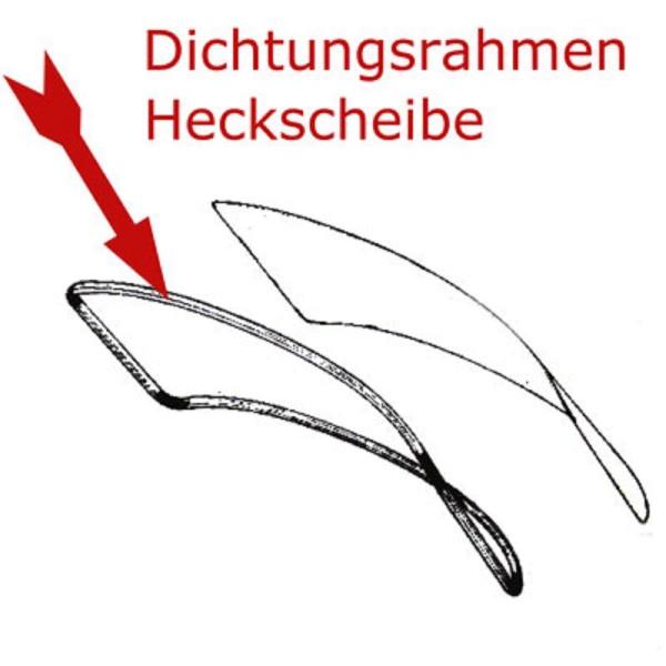 Scheibendichtung Heckscheibe W116