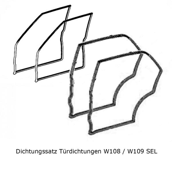 Dichtungssatz Türdichtungen W108 W109 SEL