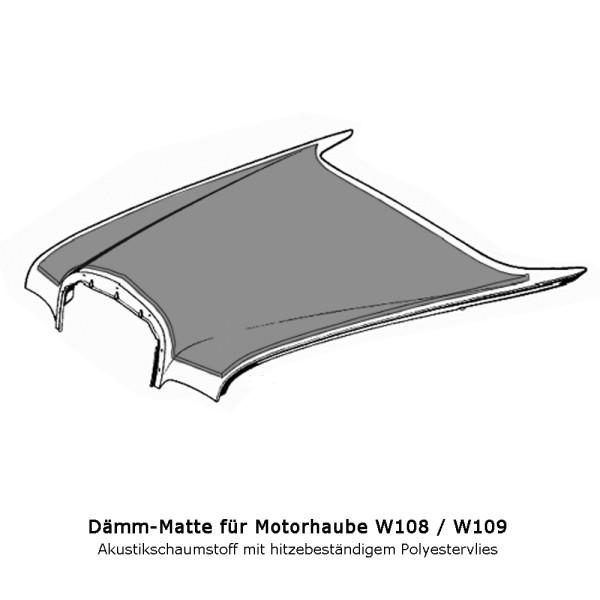 W108 W109 Dämmung Motorhaube